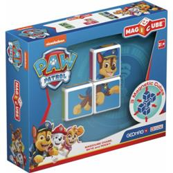 Set Constructie Magnetic Magicube Paw Patrol Chase, Skye si Rocky