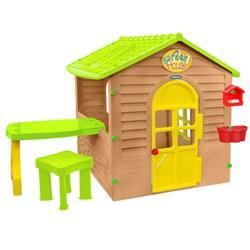 Casuta Garden House cu Usa Functionala, Masuta si Scaunel